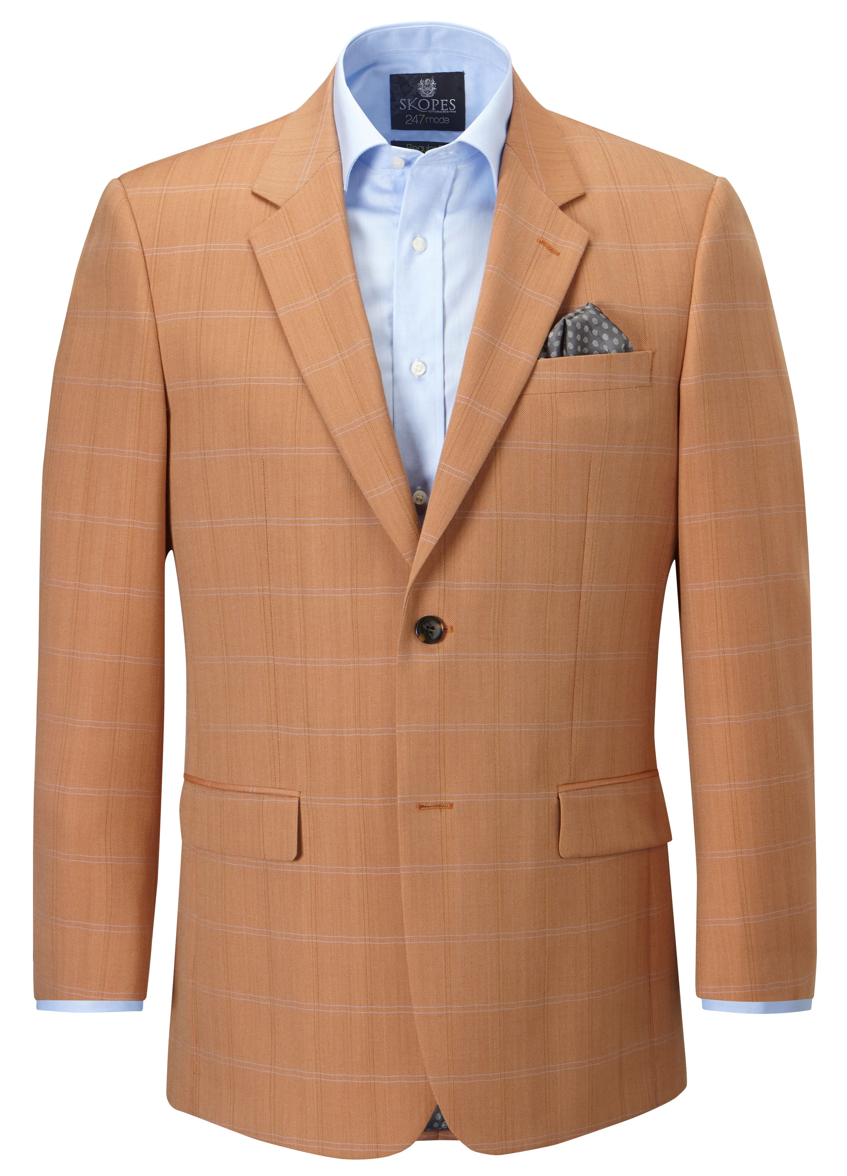 Lockton check single breasted sport jacket