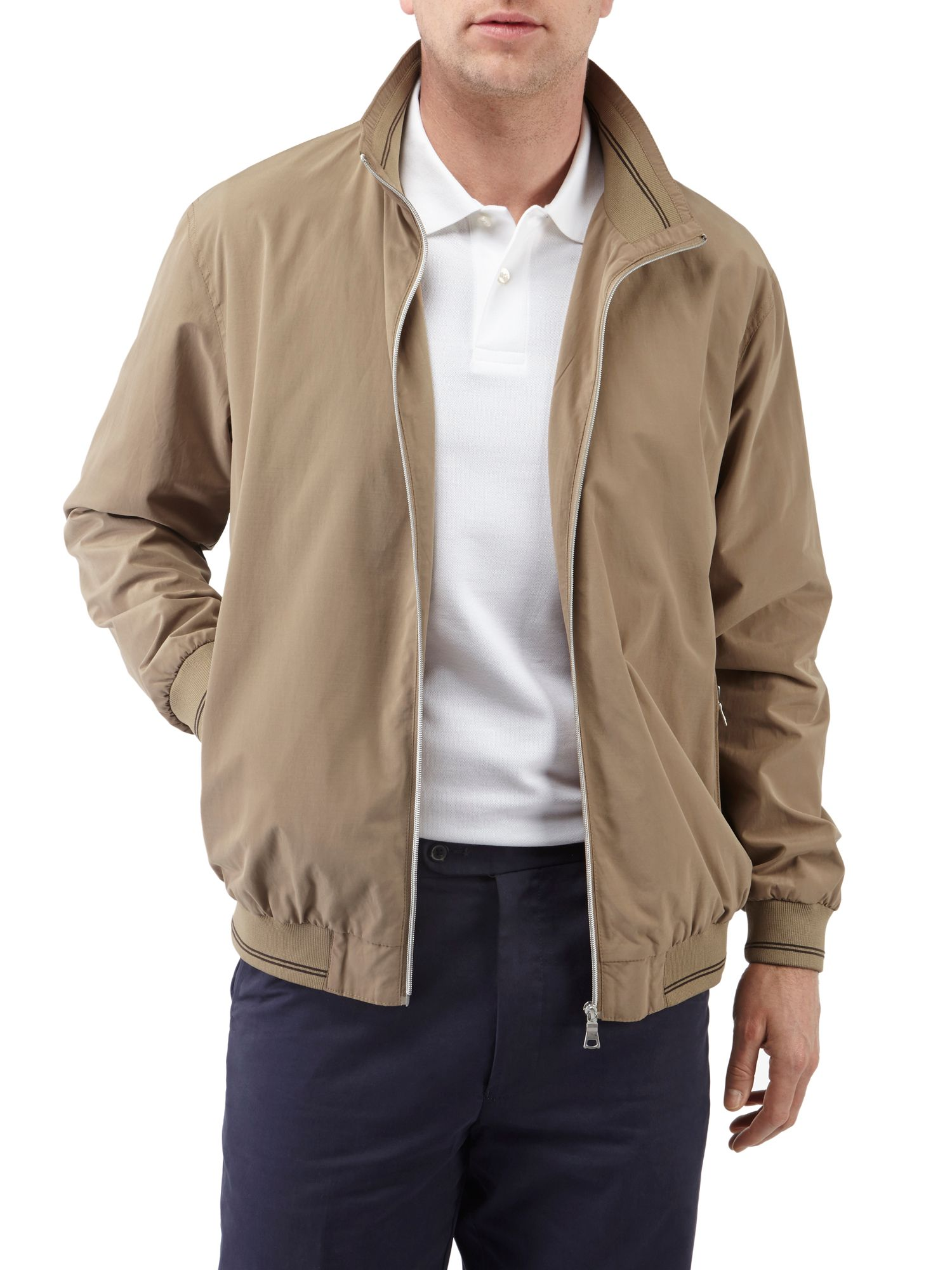Beziers casual showerproof full zip bomber jacket