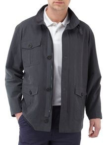 Lyon casual showerproof full zip overcoat
