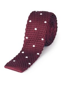 Knitted polyester tie