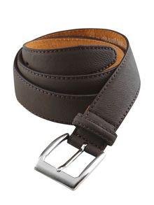 Boxed suede belt