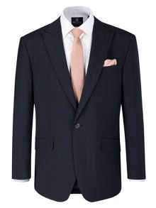 Trueman Check Peak Collar Tailored Fit Suit Jacke