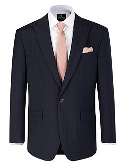 Trueman Check Peak Collar Tailored Suit Jacket