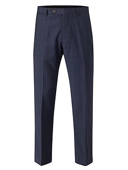 Trueman Check Tailored Fit Suit Trousers