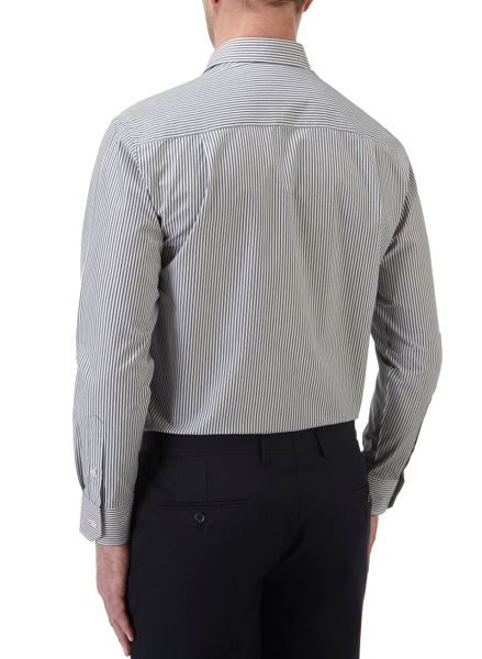 Skopes Stripe Tailored Fit Long Sleeve Formal Shirt