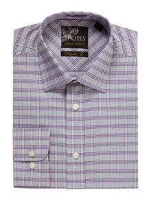 Skopes Check Classic Fit Long Sleeve Formal Shirt