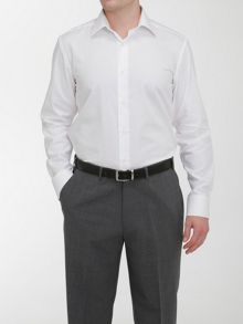Plain Tailored Fit Formal Shirt