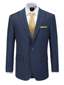 Lynott Stripe Tailored Fit Suit Jacket