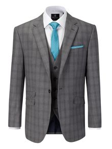 Atticus Check Notch Collar Tailored Fit Suit Jack
