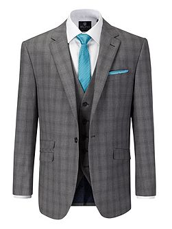 Atticus Check Notch Collar Tailored Suit Jacket