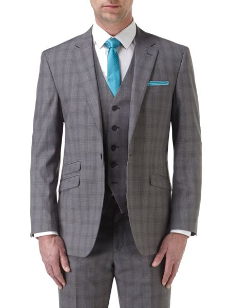 Skopes Atticus Check Notch Collar Tailored Suit Jacket