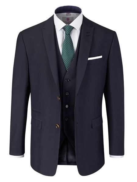 Skopes Noble Stripe Peak Collar Tailored Fit Suit Jacket
