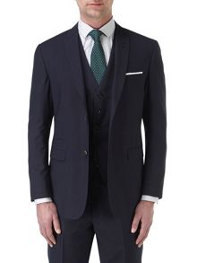 Noble Stripe Peak Collar Tailored Fit Suit Jacket