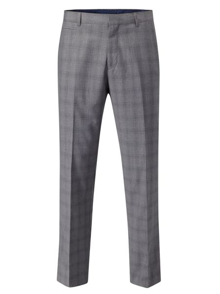 Skopes Atticus Check Tailored Fit Suit Trousers
