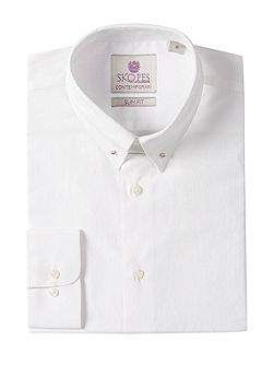 Men's Skopes Ss0534 Plain Slim Fit Classic Collar