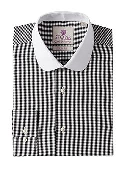 Check Slim Fit Round Collar Formal Shirt
