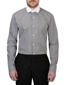 Skopes Check Slim Fit Round Collar Formal Shirt