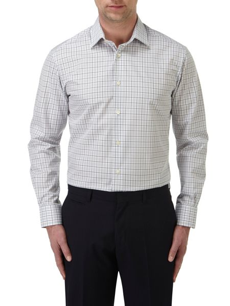Skopes Check Tailored Fit Long Sleeve Formal Shirt