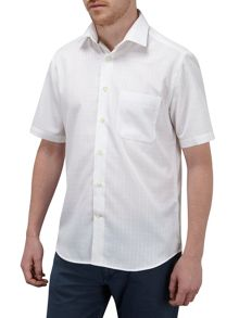Check Classic Fit Short Sleeve Classic Collar Shi