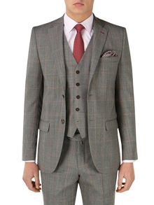 Cole Check Tailored Fit Suit Jacket