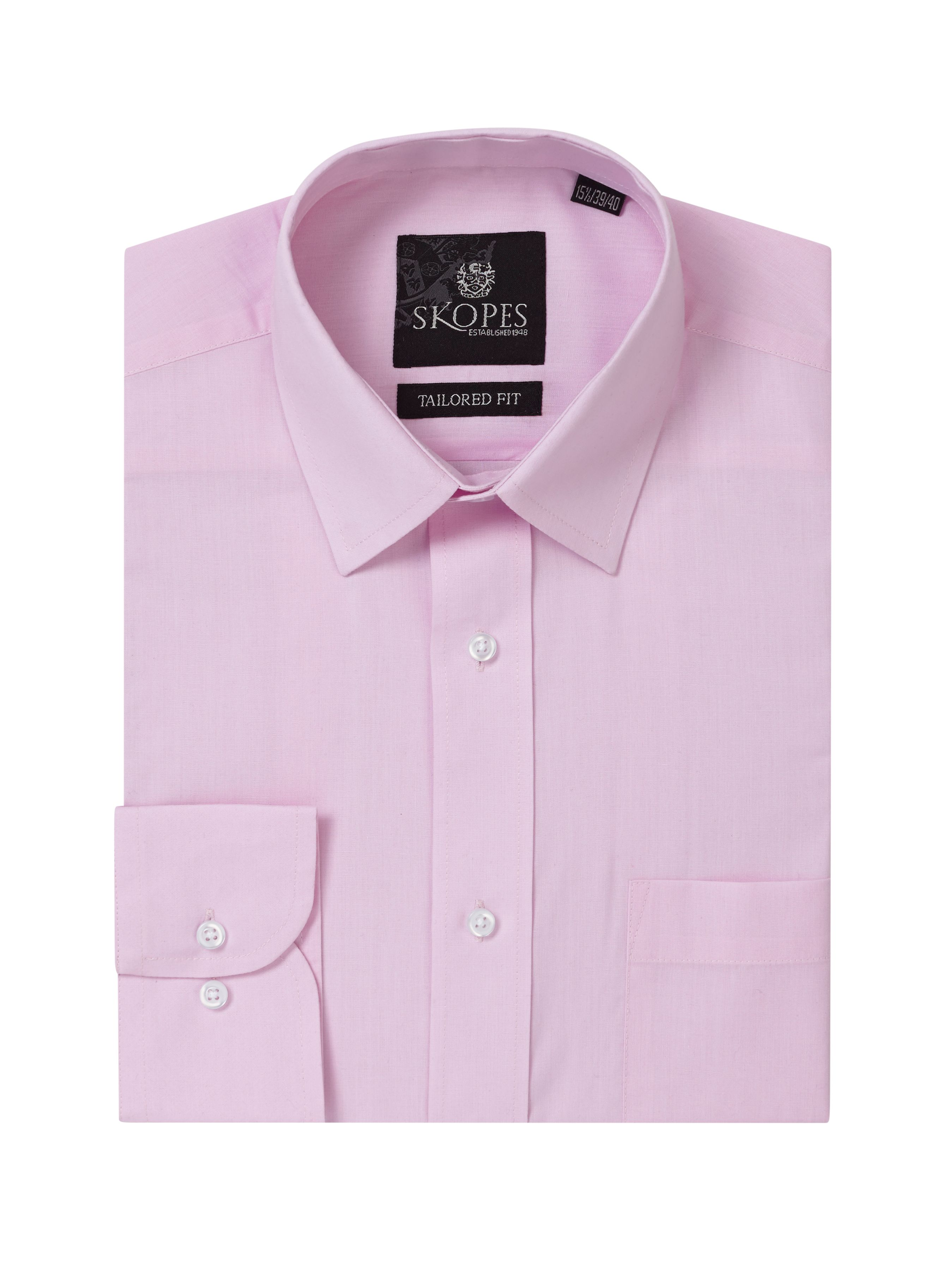 Mens Skopes Easy Care Formal Tailored Shirts Pink