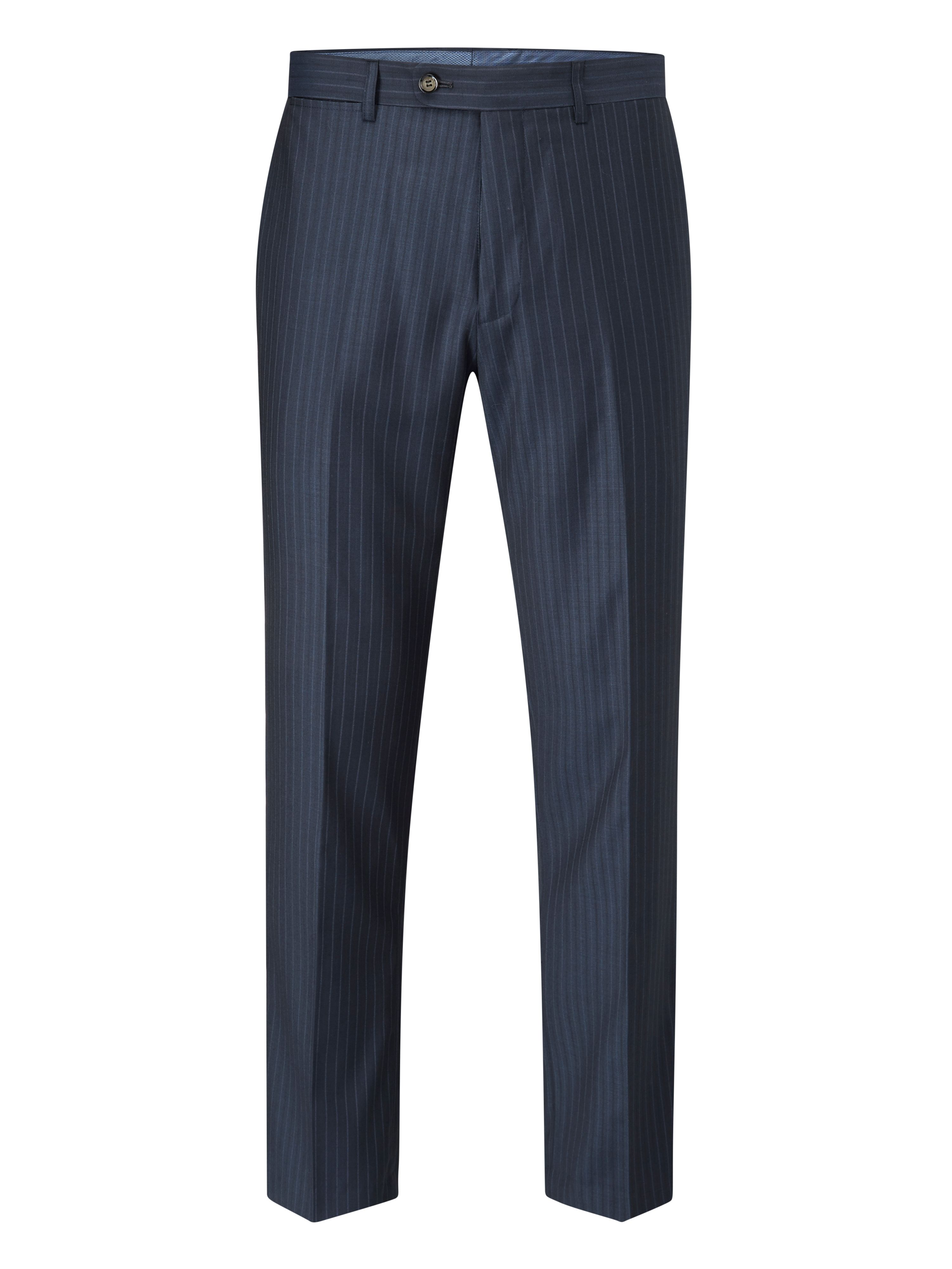 Men's Skopes Jefferson Suit Trouser, Navy Stripe