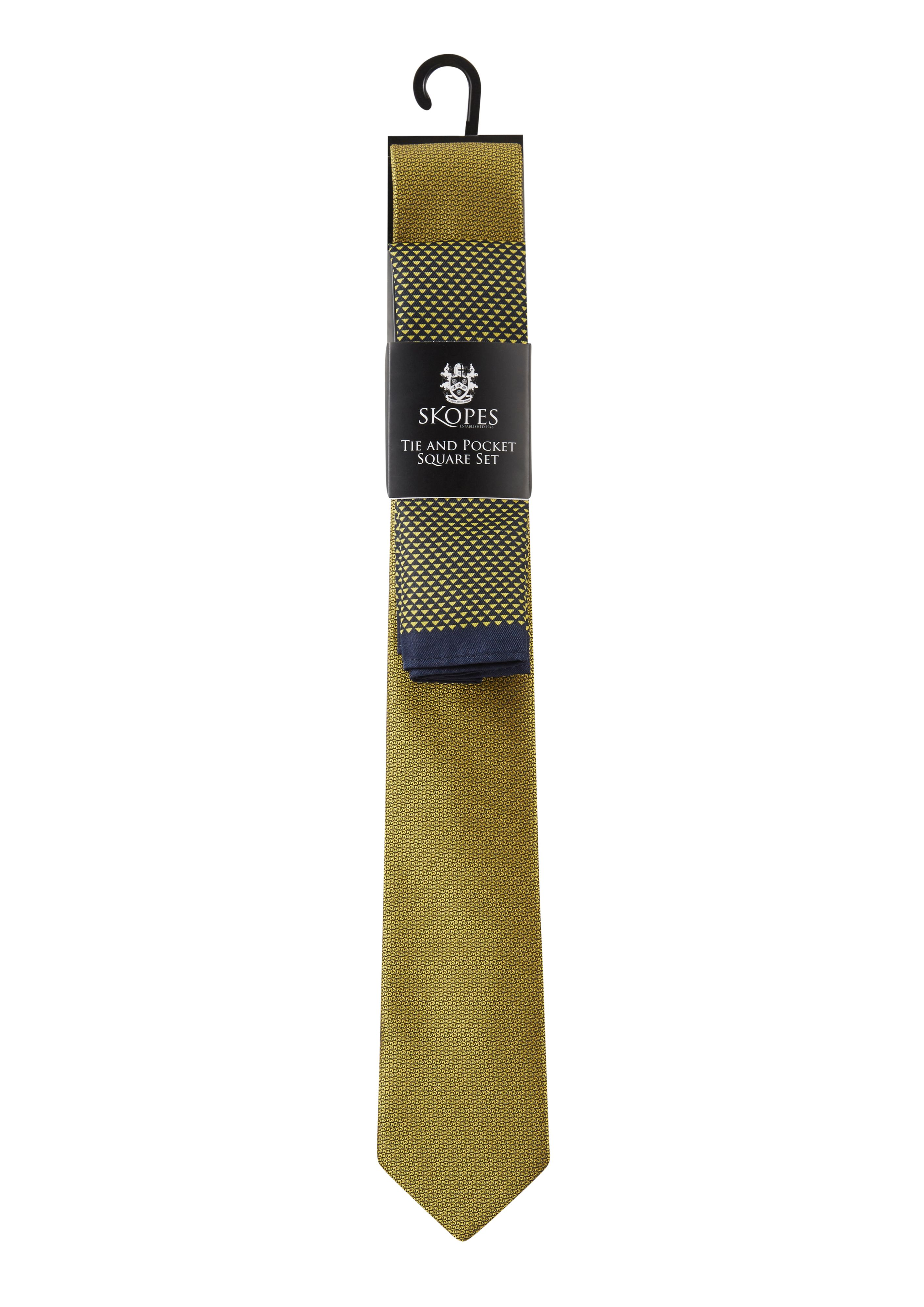 Skopes Fancy Tie & Pocket Square Yellow