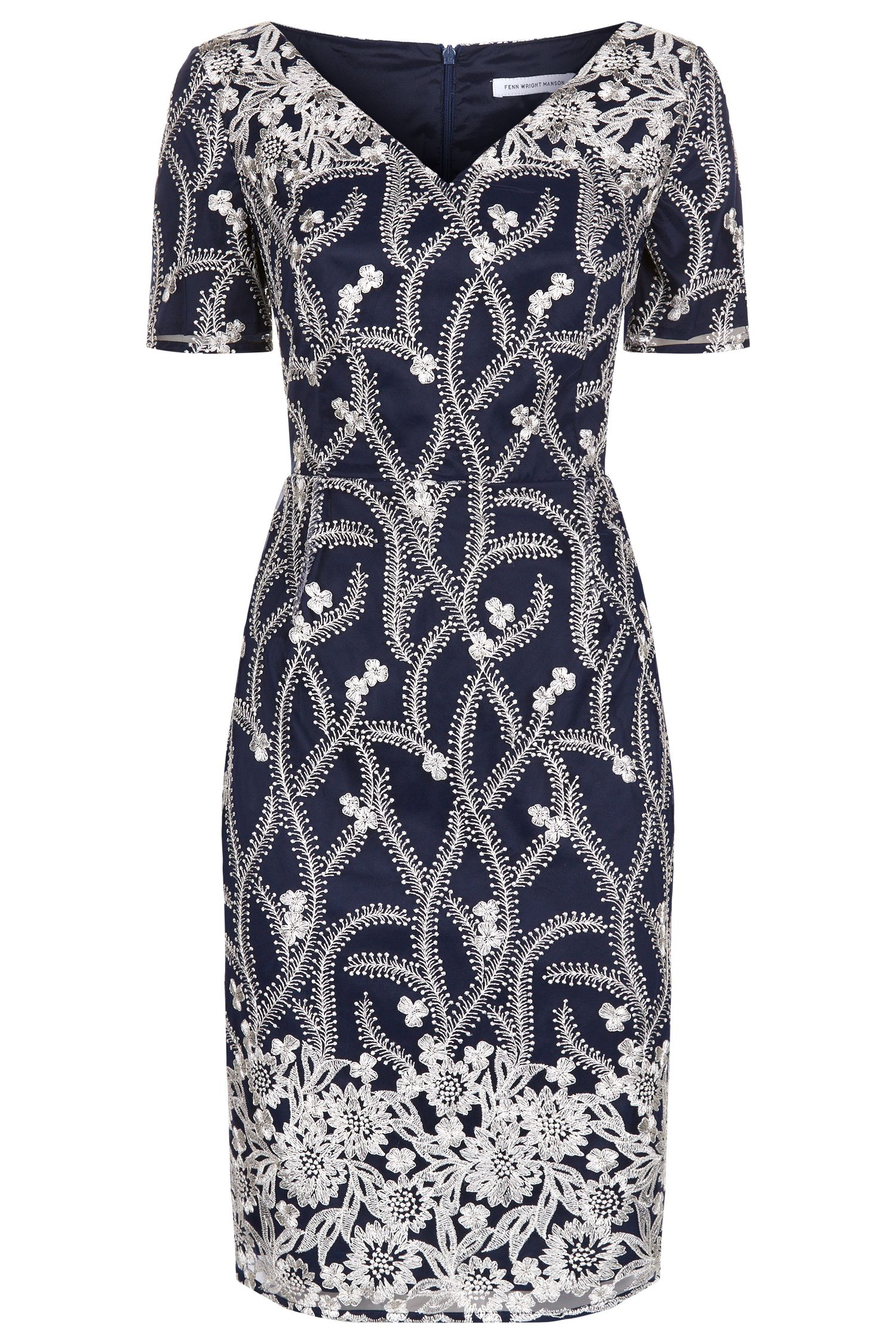 Fenn Wright Manson Rhea Dress, Blue Multi