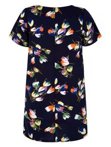 Yumi Tulip Print Shift Dress