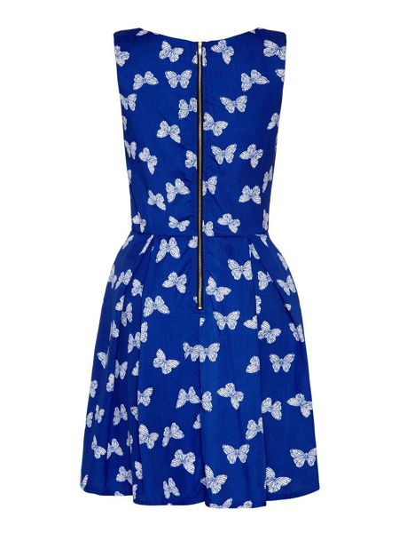 Yumi Butterfly Print Day Dress