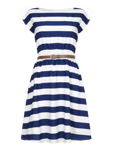 Yumi Stripe Print Day Dress