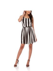 Yumi Stripe Print Skater Dress