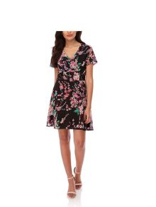 Yumi Cherry Blossom Print Tea Dress