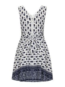 Yumi Elephant Print Skater Dress