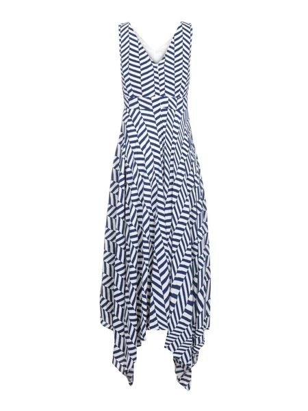 Yumi Stripe Print High Low Dress
