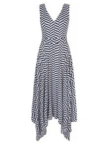 Yumi Stripe Print Midi Dress