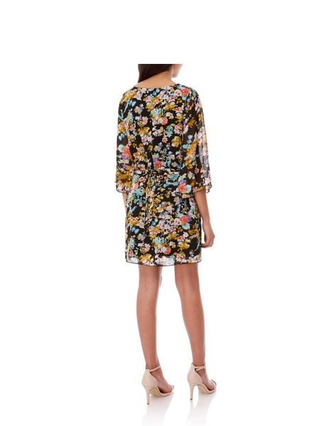 Yumi Floral Kaftan Tunic Dress