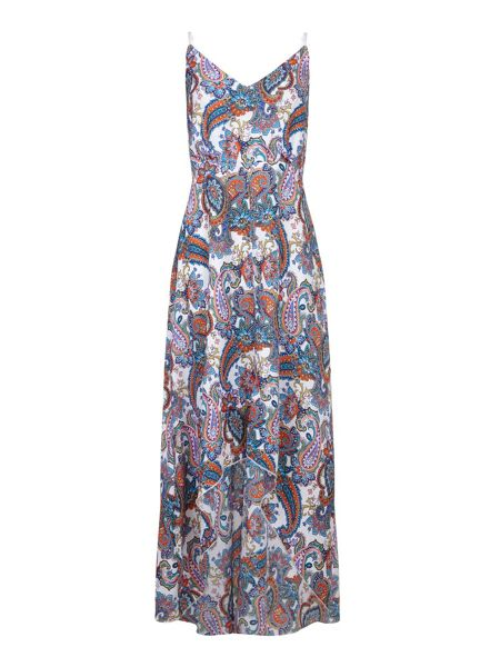 Mela London Paisley Print Maxi Dress