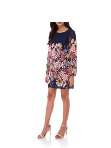 Yumi Summer Flower Print Tunic Dress
