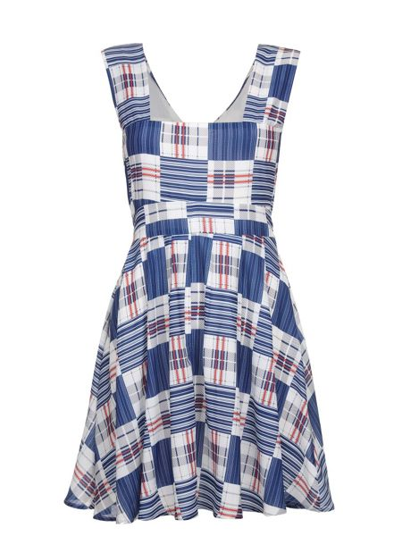 Mela London Check Print Summer Dress