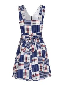 Yumi Check Print Zip Dress