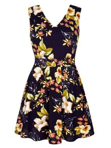 Yumi Floral Print Occasion Dress