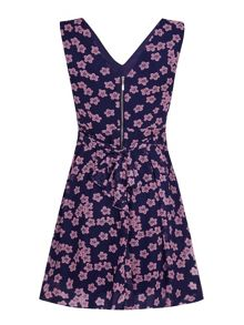 Mela Loves London Cherry Blossom Print Skater Dress