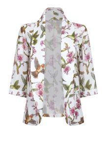 Mela London Floral and Bird Print Jacket
