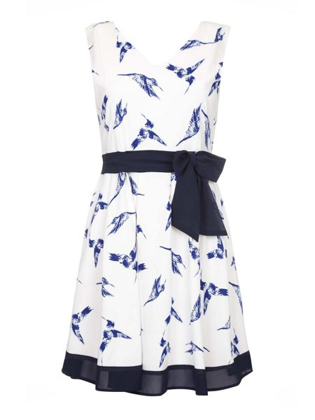Mela London Hummingbird Print Day Dress