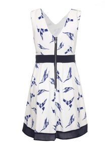 Mela Loves London Hummingbird Print Day Dress