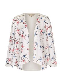 Yumi Swallow Bird Print Jacket