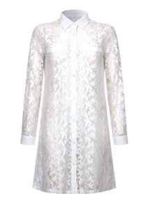 Mela Loves London Lace Shirt Dress