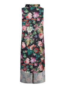 Mela Loves London Rose Print Midi Shirt Dress