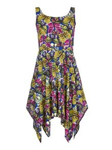 Mela Loves London Butterfly Print Scarf Dress
